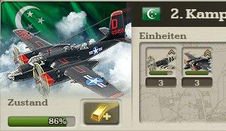 Ungeschützte Bomber-Verbände